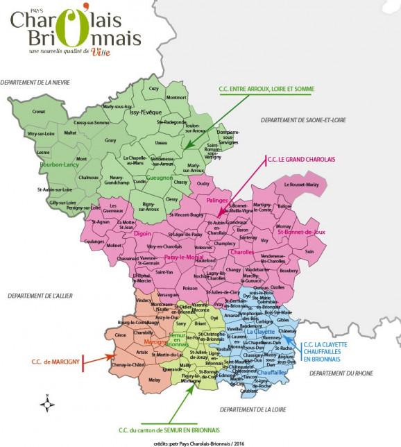 Carte d'identité du territoire Pays Charolais brionnais