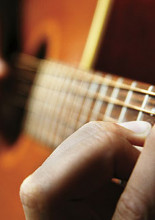 Barre chord close up